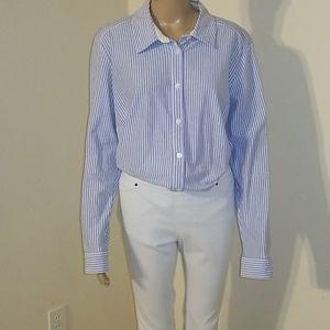 Charter Club Cotton Striped Knit Shirt